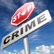 Stop crime sign — Stock Photo #66148607