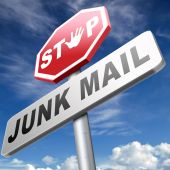 Stop junk mail and spam — Stock Photo