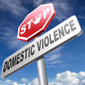 Stopp häusliche gewalt — Stockfoto