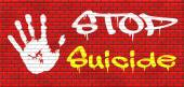 No suicide graffiti — Stock Photo