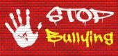 Stop bullying graffiti — Stock Photo