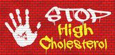 High cholesterol sign — Stock Photo