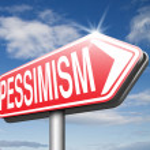 Pessimism road sign — Stock Photo #67089499