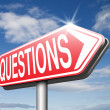 Questions road sign — Stock Photo #67089643