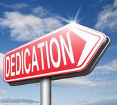 Dedication road sign — Stock Photo