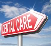 Dental care sign — Stock Photo