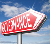 Governance road sign — Stock Photo
