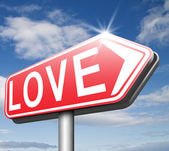 Find love sign — Stock Photo