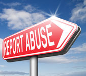 Report abuse road sign — Stock Photo