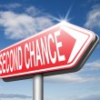 Second chance sign — Fotografia Stock  #67090169