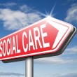 Social care sign — Stock Photo #67090335