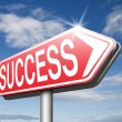 Road to success sign — Stock Photo #67090593