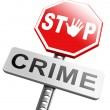 Stop crime sign — Stock Photo #67091605