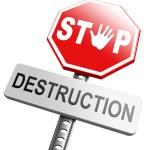 Stop destruction text — Stock Photo #67091637