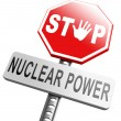 No nuclear power sign — Stock Photo #67092117