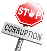 Stop corruption fraud and bribery — Stock Photo