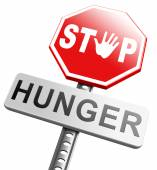Stop hunger, suffering malnutrition starvation — Stock Photo