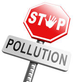 Stop pollution reuse and recycle — Stock Photo