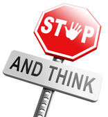 Stop think act, use your brain — Stock Photo
