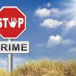 Stop crime sign — Stock Photo #69826161