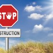 Stop destruction text — Stock Photo #69826205