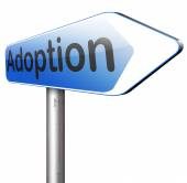 Adoption child sign — Stock Photo