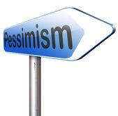 Pessimism road sign — Stock Photo