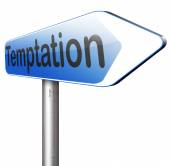 Temptation road sign — Stock Photo