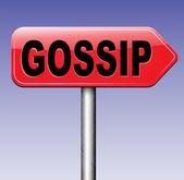 Gossip and rumors sign — Stock Photo