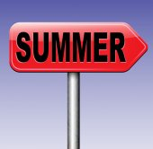Summer time sign — Stock Photo