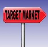 Target market sign — Stock Photo