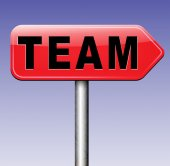 Team or group sign — Stock Photo