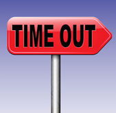 Time out sign — Stock Photo