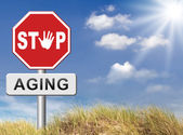 Stop aging sign — Stock Photo