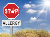 Stop allergies and allergic reactions — Stock Photo