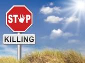 Stop killing, no guns — Stock Photo