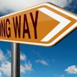 Wrong way sign — Stock Photo #73976513