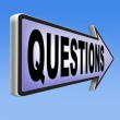 Questions road sign — Stock Photo #73973461