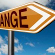 Change ahead sign — Stock Photo #73974173