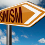 Pessimism road sign — Stock Photo #73975739