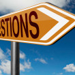 Questions road sign — Stock Photo #73975803
