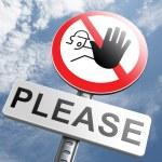 Please stop no more — Stock Photo #73977421