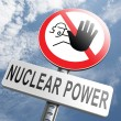 No nuclear power sign — Stock Photo #73977479