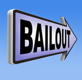 Bailout or bankruptcy economic crisis — Stock Photo