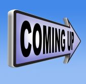 Coming up sign — Stock Photo