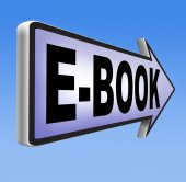 Ebook downloading online sign — Stock Photo