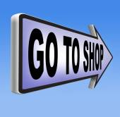 Go to shop sign — Stock Photo