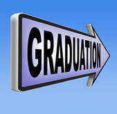 Graduation day sign — Stock Photo