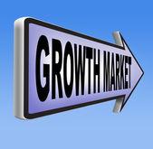 Growth market economy sign — Stock Photo