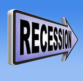 Global economic recession — Stock Photo